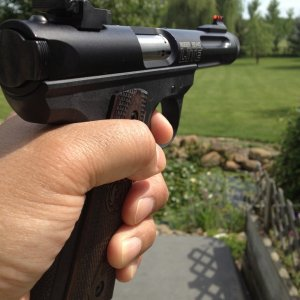 Ruger Mark III 22/45 Lite with new Williams sights