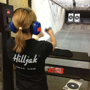 Mrs. Hilljak at Aimhi shooting range