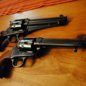 1875 Outlaw from Cimarron, and 1873 Colt Army
